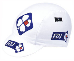 Wholesale Bike Hats Caps - pro team fdj cycling caps tour de france cycling Bike Sunscreen Headwear Scarf Skull breathable quick dry Outdoor riding sports hats B1801
