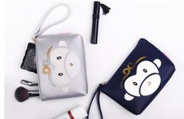 12 monos Rebajas Al por mayor- 2017 Cartoon Monkey Makeup Bags 12 colores lindos cosméticos bolsas para mujeres bolsa de cosméticos bolso de las mujeres del recorrido