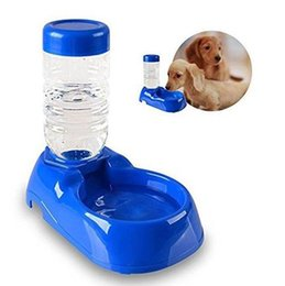 Wholesale Automatic Feeder For Pets - new pet water bottle food feeder Plastic Pet Drinking Bowl Water Feeding Bowl For Dogs and Cats Auto Supply Water