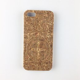 Wholesale Hard I Phone Cases - U&I ®Natural cork wood phone cover PC Hard Back case for Apple IPhone 6 plus phone case