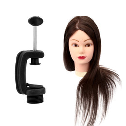 Wholesale Wholesale Woman Mannequin - Long Hair Hairdressing Mannequin Training Head with Stand Female Training Head Model W2649