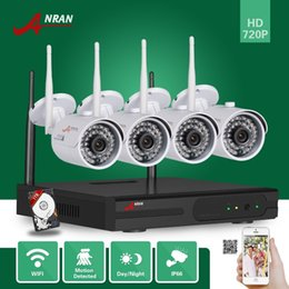 Wholesale Network Ip Video Security Camera - 4CH P2P ANRAN 720P HD WIFI NVR 1TB HDD 1.0 MP Outdoor Waterproof IR Network Wireless IP Camera CCTV Home Video Security Wireless Camera Kits