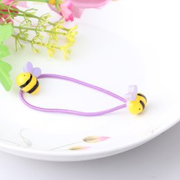 Wholesale Rubber Band Hair Designs - Wholesale- Cartoon Animal Shape Elastic Hair Bands Baby Mini Rubber Band Hair Rope Ponytail Holder For Kids Girl Small Fish Design Scrunchy