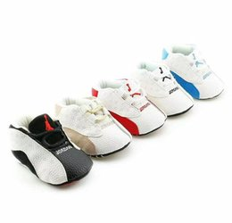Wholesale Anti Band - NEW Baby Boys Girls Soft Sole Crib Shoes PU Leather Anti-slip Shoes Toddler Sneakers 0-18M