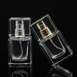 Wholesale glass container for perfume - Hot Style 30ml Clear Glass Spray Refillable Perfume Bottles Glass Pump Automizer Empty Cosmetic Container For Travel