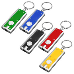 Wholesale Flashing Keyrings - Keychain Flashlight Mini Flashlight LED Camping Keyring Flashlight Portable Thin&Tiny Flash Light Torch Keychain Lamp Key Chain Micro Light