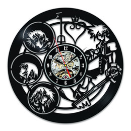 Wholesale Unique Clocks - Kingdom Hearts Characters Unique Vintage Vinyl Wall Clock Decorate Your Home With Decor Vintage Art-Best Gift For Friend, Man And Boy Good