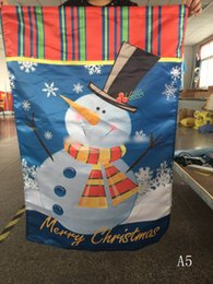 Wholesale Wholesale Satin Prints - DHL frshpping 60*90cm welcome flags shop custom make Christmas welcome flags snow man santa clauz flag any design Professional flag printing