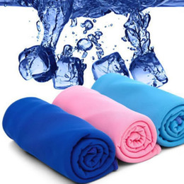 Wholesale Magic Cool Towel Wholesale - Wholesale-Outdoor Hiking Picnic Fitness Gym Creative Magic Ice Cool Cold Towel Exercise Sweat Summer Sports Workout Hypothermia Ice Towel