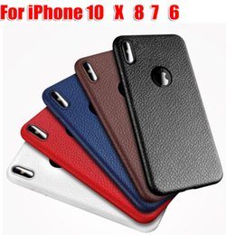 Wholesale Cases Phone Wholesale Leather - Leather lines Phone Case For iphone 10 X 8 7 7 plus iphone 6 6plus Phone Cases anit-fingerprint anti-shock TPU Case for iphone8
