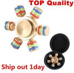 Wholesale Wholesale Big Toys - Brass Hexagonal Fidget Spinner Hexa-spinner EDS Anti-stress Rotation Metal Spinners Cooper Fidget Spinner Decompression Novelty Toy