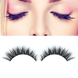 Wholesale Extension Mm - Wholesale- 2016 High Quality 1Pair 3D Natural Bushy Cross False Eyelashes Mink Hair Handmade Eye Lashes 12 mm Charming Eyelash Extensions