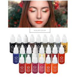 Wholesale Biotouch Cosmetic Tattoo Ink - 23Pcs Biotouch Ink Permanent Makeup Pigment 15Ml Cosmetic 23 Color Tattoo Ink Set Paint For Microblading Eyebrow Lip Body Makeup