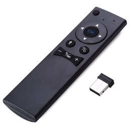 Wholesale Remote Interface - Wholesale- Portable TZ MX6 2.4G Wireless Voice Remote Control Mouse for Smart TV Android TV Box Mini PC HTPC USB 2.0 Interface