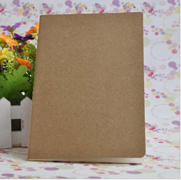 Wholesale Clear Book Covers - cowhide paper notebook blank notepads book vintage soft copybook daily memos Kraft cover journal notebooks office school book