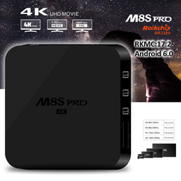 Wholesale Games Loads - 2gb 8gb tv box M8S Pro Upgrade Version Andriod 6.0 OS TV Box RK3229 RKMC 17.2 pre-installed Game Movie Media Play Center fully loaded
