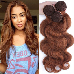 Wholesale Extensions 27 Weft - Malaysian Indian Brazilian Virgin Hair Bundles Peruvian Body Wave Hair Weaves Natural Color #1 #2 #4 #27 #99j #33 #30 Human Hair Extensions