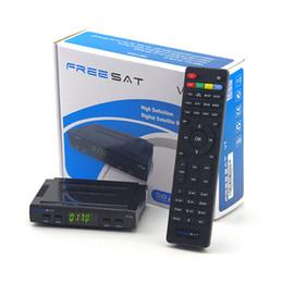 Wholesale Hd Satellite Receiver Vu - Stock Freesat with USB wifi DVB-S2 satellite TV receiver , support power vu,newcamd,Youtube free video DVB-S2 1080p full hd freesat v7