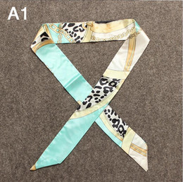 Wholesale Multicolor Handbags Wholesale - Smallwholesales multicolor A1-A31 Pony printed design twilly scarf handbag decoration accessories H twilly scarf brand bow hair bands