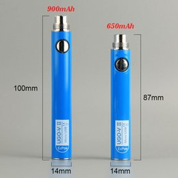 Wholesale Pen Style Ego - UGO-V II 2 Battery dab pen 650 900mAH EVOD USB Passthrough Styled Ecig Battery Vape Micro USB 5 Pin Charging Fit eGo Atomizers