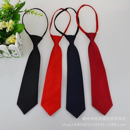 Wholesale Wholesale Zipper Pulls - Fashion Men's Narrow Ties Zipper Tie Easy To Pull Striped Dot Solid Groom Wedding Dress Chio Gravata Free Shipping