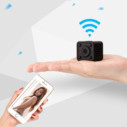 Wholesale Function Small Videos - Free shipping Wifi mini Spy hidden camera video recording camcorder small size security equipment with motion alarm function