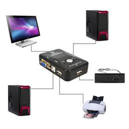 Freeshipping 2 порта USB KVM переключатель Switcher Box VGA SVGA сплиттер авто контроллер клавиатуры мыши 1920 * 1440 от Поставщики vga разделитель