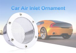 Wholesale Grille Designs - Universal Auto Car Air Inlet Intake Ornament Grille Design Silver White Blue Red 3 Optional Colors 194732101