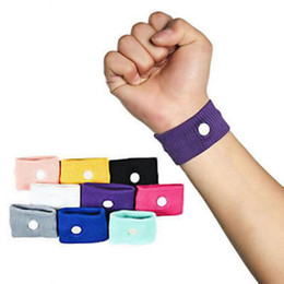 Wholesale Motion Sickness Bands - Wholesale- 2Pcs Outdoor Wrist Support Reuseable Anti Nausea Wristbands For Camping Travel Motion Sickness Wrist Bands Random Color