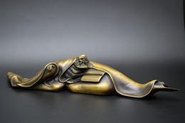 Wholesale Paper Towns - Antique collection of brass pure copper Dharma copper town paper copper feet Decoration