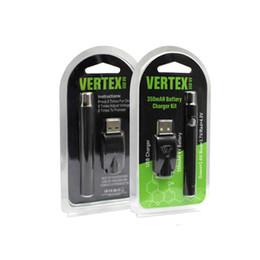 Wholesale G2 Battery Charger - Vertex L0 VV Battery Charger Blister Kit 350mAh Preheat Battery 510 Thread Vape Pen for Bud Touch O Pen CE3 G2 Vaporizer Cartridges