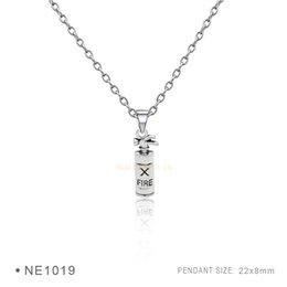 Wholesale Antique Silver Hair Pin - Antique Silver Fire Safety Pin Extinguisher Ice Cream Cone Chain Hair Comb Drawing board Women Platinum Charms Metal Pendant Necklaces