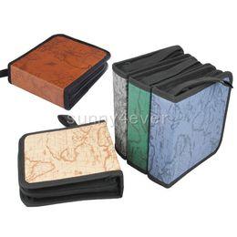Wholesale Dvd Storage Carry - 40pcs 80pcs CD DVD Disc Storage Holder Carry Case The World Map Design Organizer Sleeve Wallet Cover Bag Box