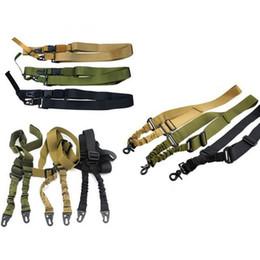 Wholesale Gun Belt Strap - Tactical Gun Sling One Two Three Points Adjustable Nylon Gun Accessories Camera Belt Strap Outdoor Airsoft Mount Bungee Rifle Sling
