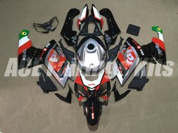 Wholesale Aprilia Rs125 Fairing Set - New Injection ABS motorcycle fairing kits for aprillia RS125 2006-2011 Fairings RS 125 06 07 08 09 10 11 RS4 bodywork set red black silver