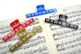 Wholesale Paper Note Books - Wholesale- Niko Music Book Note Paper Ruler Sheet Music Spring Clip Holder For Piano Guitar Violin Viola Cello Performance Practice