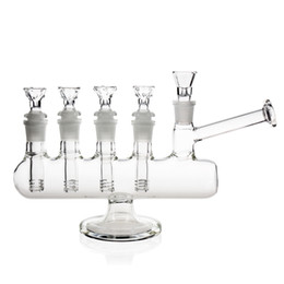 Wholesale Water Wells - REANICE Recycler Glass Bongs Well done bong complex bong 14.5mm bong bowl Height 17cm Straight Glass Pipes Honeycomb Branch Water Oil