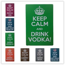 Wholesale whiskey signs - Keep Calm and Drink Vodka Whiskey Beer Vintage sign home Bar Pub Hotel Restaurant Coffee Shop home Decorative Retro Metal Poster Tin Sign