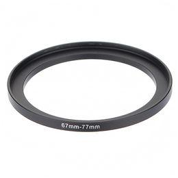 Wholesale Digital Adapter Ring - Wholesale- 67-77mm 67mm-77mm 67 to 77 Metal Step Up Lens Filter Ring Stepping Adapter Black For Digital Camera DSLR SLR