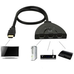 hdmi ps4 Rebajas HDMI Switcher Pigtail HDMI Switch HDCP 1080P Hub V1.4B con Mac Pro / PS4 / Proyectores / Xbox 360 / Xbox One / DVB / dispositivos de apple