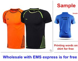 Wholesale Ems Express - Wholesale with EMS express, HOT badminton shirt clothes short sleeve table tennis T sport shirt clothes 51