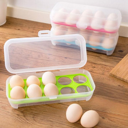 Wholesale Gift Egg Boxes - Single Layer Refrigerator Food 15 Eggs Airtight Storage container plastic Box Perfect Gifts