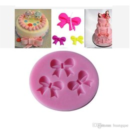 Wholesale Silicone Bakeware Mould Mold - Cheap Promotional 1Pcs three Bows Cake Mold Chocolate Candy silicone Mold cake tools Bakeware sugarcraft cake decorating tools