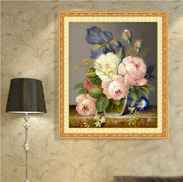 Wholesale Drawing Fabric - The Mona Lisa is embroidered with the new hot and rich flowers and flowers in the bedroom