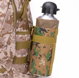 Molle del sacchetto della bottiglia online-Tempo libero Sport all'aria Bottiglia portabatteria Case Holder Vita Borsa appesa Molle Pack System Tactical Attached Vice Pouches Bottles Carrier