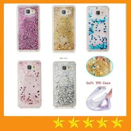 Wholesale Case For Star A3 - Quicksand Case Rhinestone Case Glitter Stars Transparent Liquid Case for iphone 5S 6 7 Plus Samsung S6 S7 A310 A3 J510 J5 2016