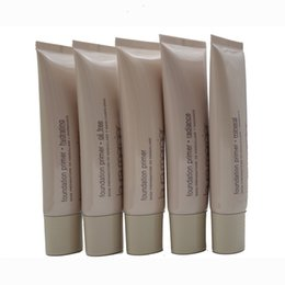 Wholesale Mineral Base Oil - 30pcs Makeup Laura Mercier Foundation Primer Hydrating Mineral Oil Free Base 50ml 4styles High Quality Face Makeup Natural 4 styles in stock