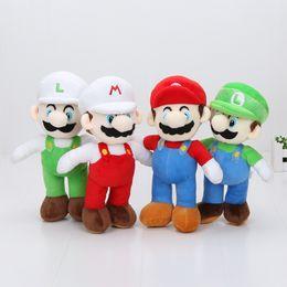 Wholesale Mario Luigi Dolls - 20pcs 4styles 10'' 25cm Super Mario plush dolls Soft Plush Mario Luigi mario bros plush toys doll for gifts