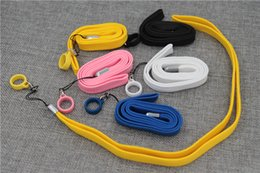 Wholesale Accessories Ego Ce4 - electronic cigarette silicone lanyard neck Universal Silicone Lanyard for ego ce4 kit evod mt3 ecigs flexible necklace e cigarette accessory