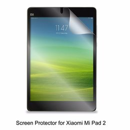 Wholesale Lcd Touch Screen For Tablet - Wholesale- Clear LCD PET Film Anti-Scratch  Anti-Bubble   Touch Responsive Screen Protector for Tablet Xiaomi Mi Pad 2